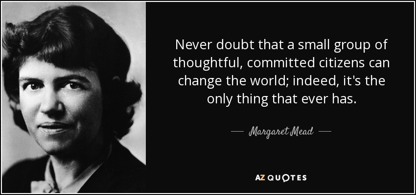 Image result for margaret mead quote