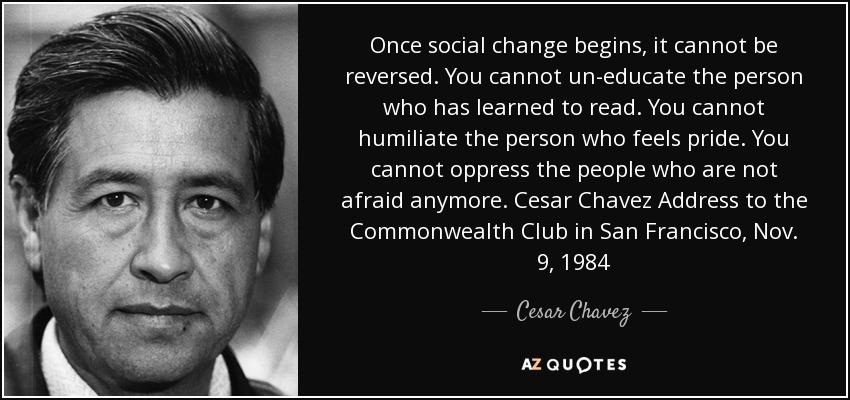 Resultado de imagen para once social change begins
