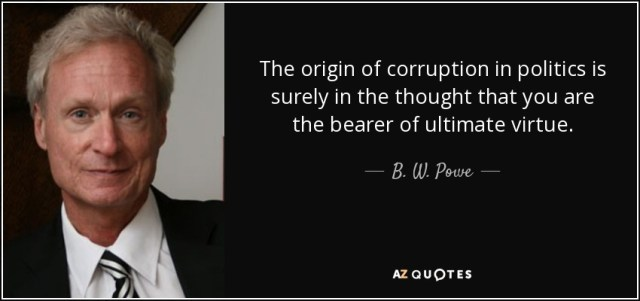 Image result for quotes on the origin of corruption