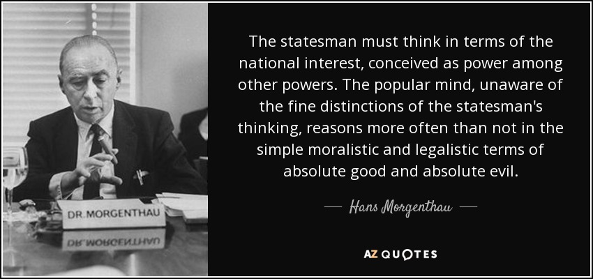 Image result for hans morgenthau