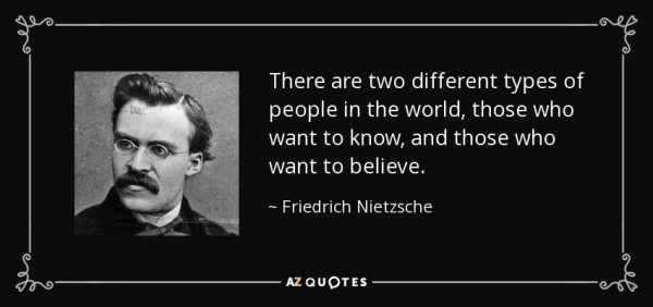 Friedrich Nietzsche quote: There are two different types ...