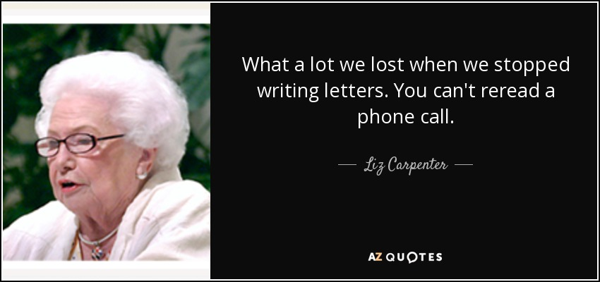 Image result for quote about writing letters