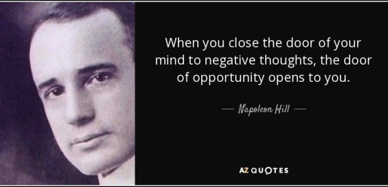 Image result for close the door on the past napoleon hill