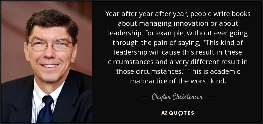 Image result for clayton christensen on leadership