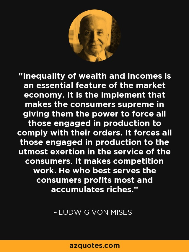 Image result for ludwig mises quotes consumer sovereignty