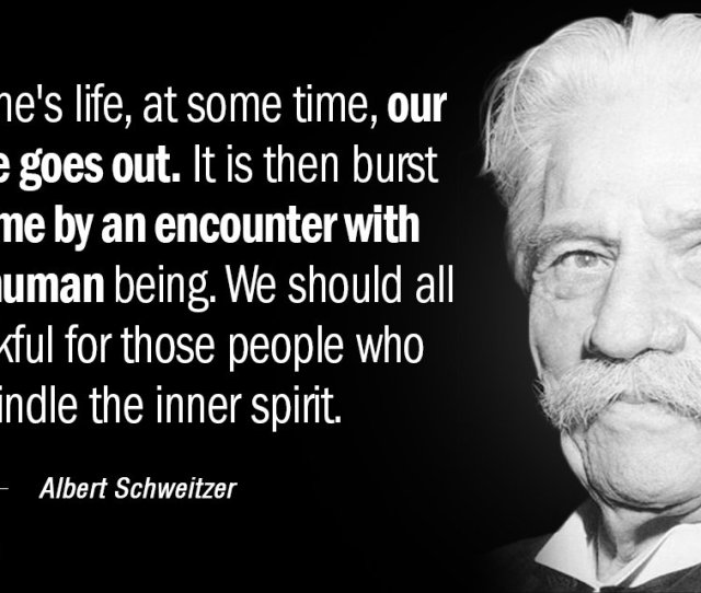 Albert Schweitzer Quote In Everyones Life At Some Time Our