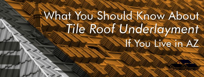 tile roof underlayment
