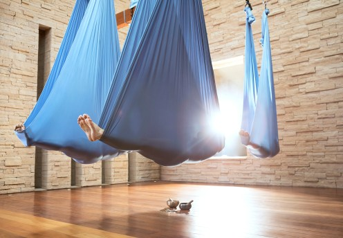 aerial yoga at well being spa scottsdale