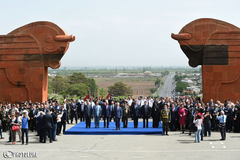 Celebration of Armenia's First Republic Day took place at Sardarapat Memorial