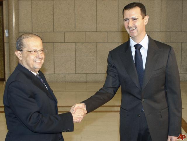 Զօր. Աուն Սուրիոյ նախագահ Պաշշար Ասատի հետ. 3 դեկտեմբեր 2008