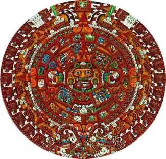 Aztec calendar stone picture