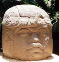 Olmec stone head