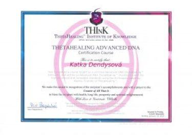 Certifikát Théta pokročilý kurz