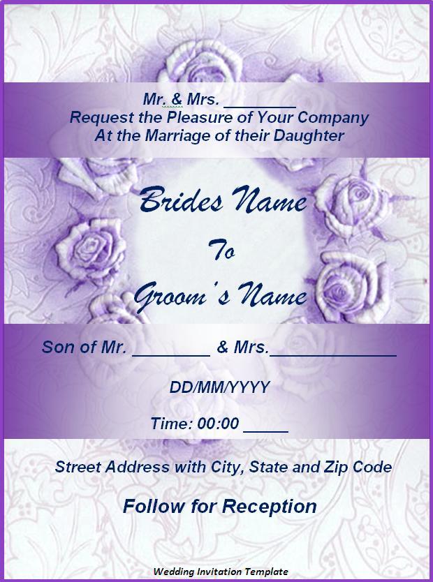 Event Invitation Card Template Word – Free Invitation Templates Word