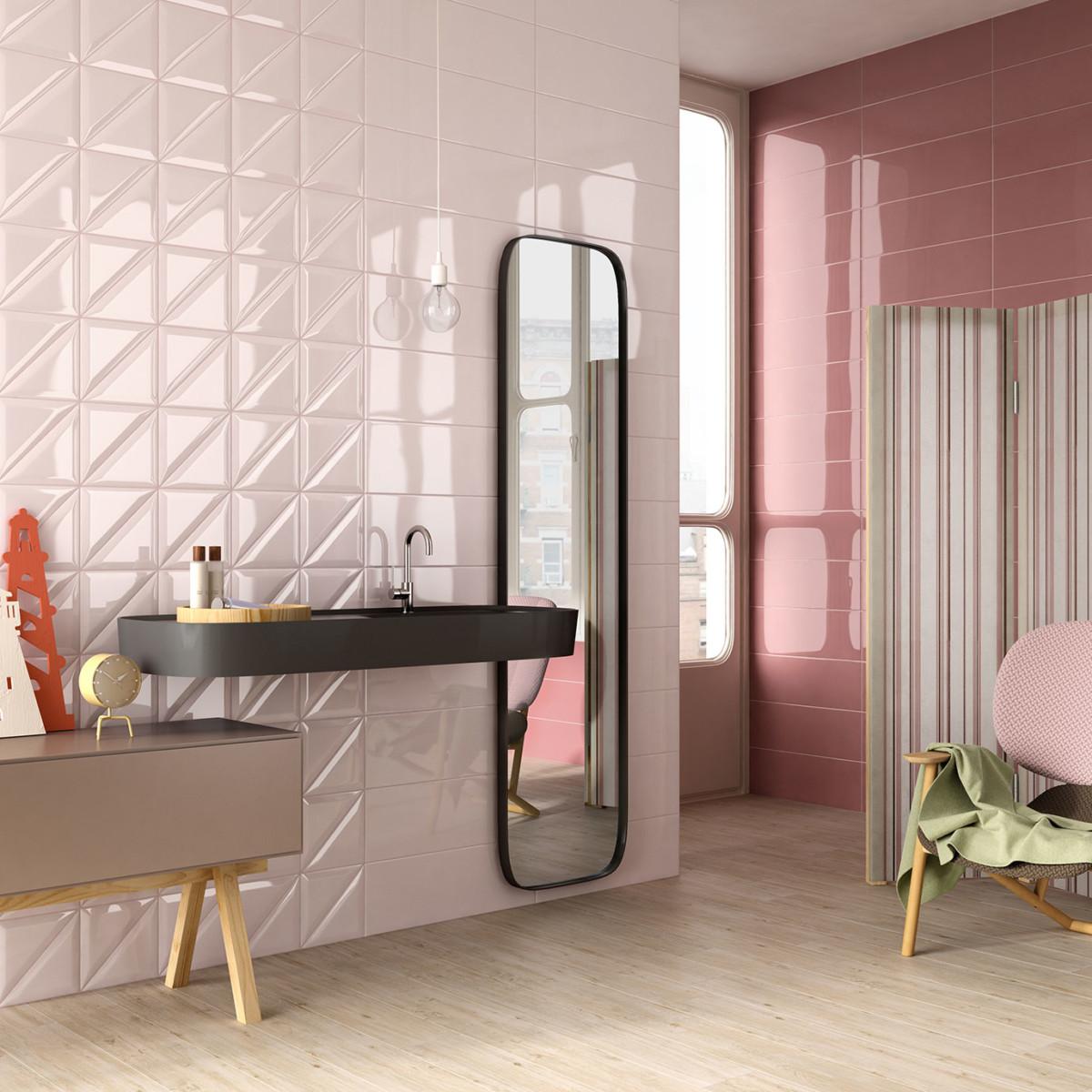 Azulejos de colores para renovar la decoraci n de los for Decoracion de banos con azulejos