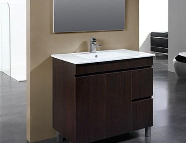 mueble de baño de 80 cm color wengue