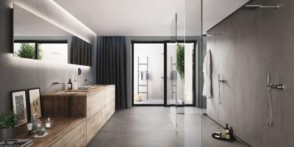Efecto cemento en la decoración para interiores