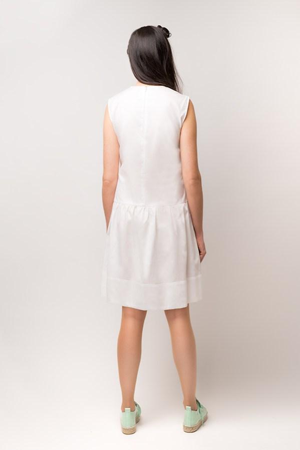 Vestido Hormiga Blanco 1 - SS19 Spring Bichos - Azul Marino Casi Negro - Moda sostenible