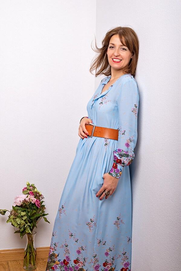 Vestido Cielo 1 - SS20 Horizonte - Azul Marino Casi Negro - Moda sostenible