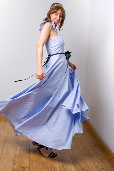 Vestido Horizonte Azul 1 - SS20 Horizonte - Azul Marino Casi Negro - Moda sostenible