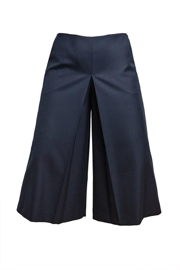 Falda Pantalón Rosa Chacel Azul Marino 3 - AW2021 Las SinSombrero - Azul Marino Casi Negro - Moda sostenible