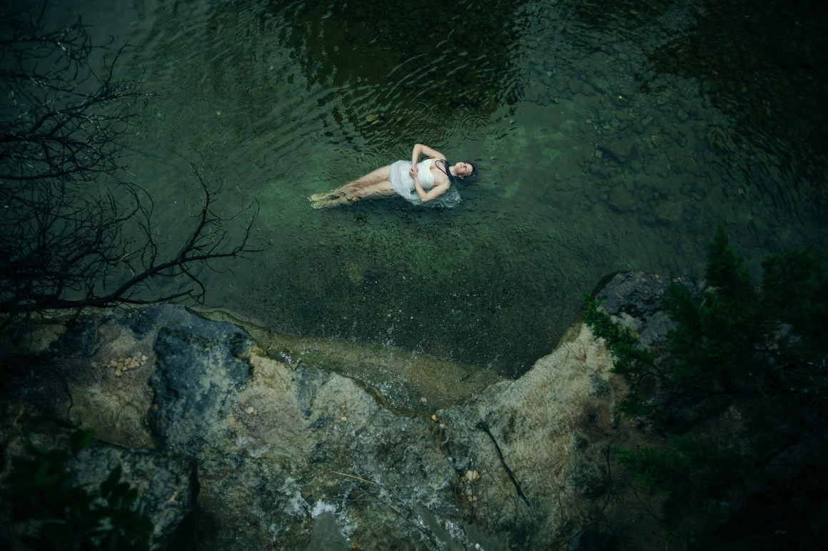Ophelia. This photo will always remind me of the intense rains we had in the spring of 2015. With rain we could count on I convinced Carrie to venture out into bull creek and play the role of Ophelia. I like the feel of isolation and greenness to this image. My images tend warm/organge as habit, working to shift where my colors flow.