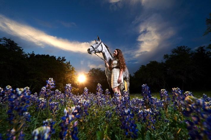 Sunset Senior Portrait Lighting - Horse Photorgaphy - Horse Photorgaphy Workshop - Horse Photography Howto - Austin Photo Workshops - Austin Senior Photos