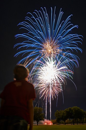 A Child's Wonder - Photographing Fireworks - 4th of July Fireworks Photography - Austin Fireworks Photography Workshop