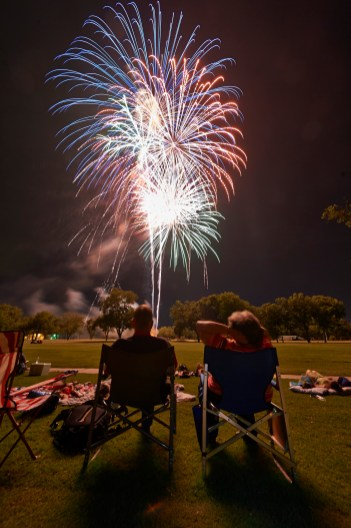 Sit Back and Enjoy - Photographing Fireworks - 4th of July Fireworks Photography - Austin Fireworks Photography Workshop