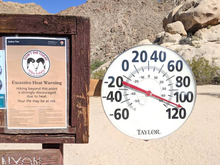 Joshua Tree National Park Trail Temperature