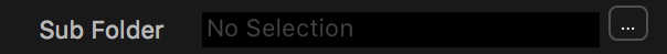 Capture One Sub Folder field and ... button