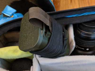 Photographer's Emergency Survival Kit in my f-stop gear tilopa backpack.