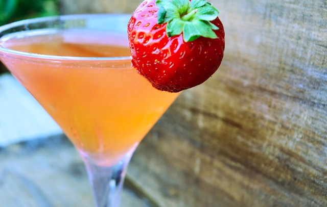 Strawberry Basily Martini
