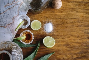 tequila with fresh limes