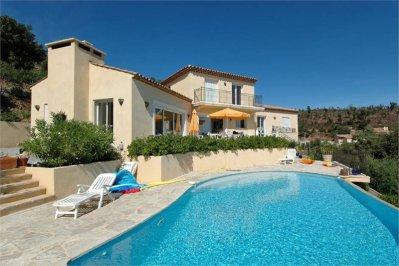 Villa Ligurienne Ferienhaus in Les Issambres Côte d'Azur Südfrankreich-Haus und Pool