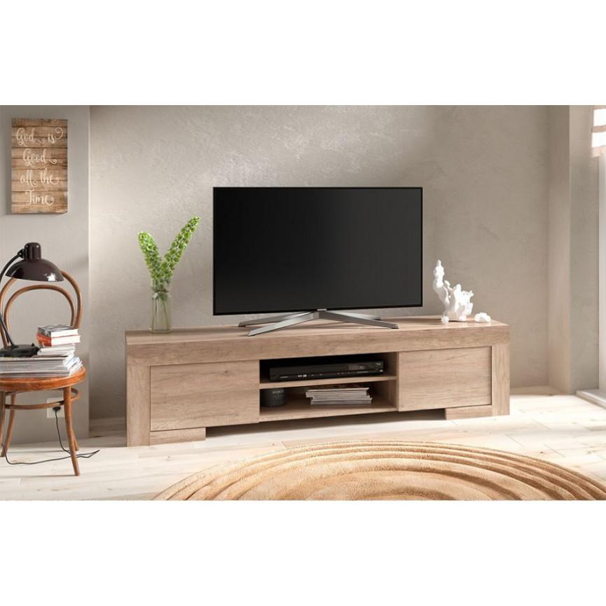 Meuble TV ROMA 170 Cm Chne Gris Meuble Tv Design