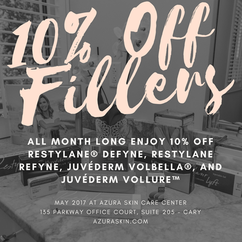 10% Off Fillers in May at Azura