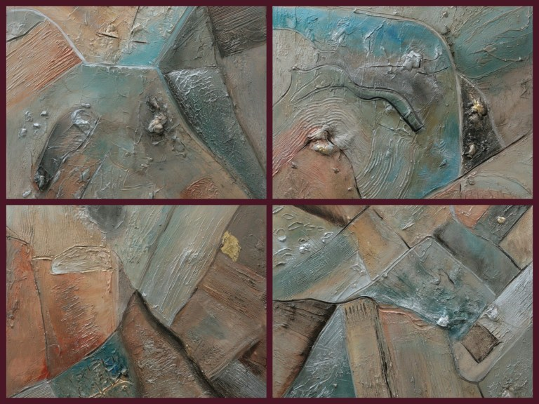 Four Paintings in the Series 'From the Sky'