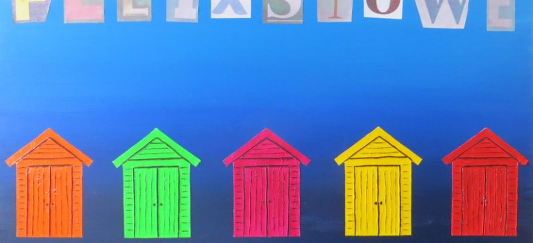 Painting Commission – Felixstowe Beach Huts