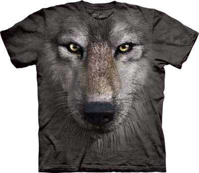 Wolf Face medium t-shirt