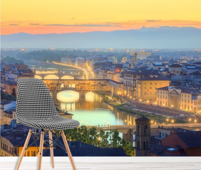 Florence Sunset Panoramic Wall Mural Italy Wallpaper Living Room Photo Decor