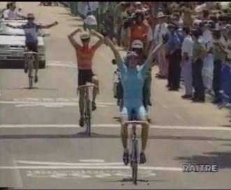 Lo sprint vincente di Fabio Casartelli a Barcellona 1992 (canale You Tube)