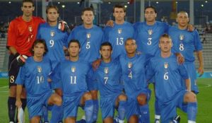 La squadra che vinse il bronzo alle Olimpiadi 2004: nell'11 di Atene si possono notare Pirlo, Gilardino e Barzagli