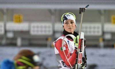 Lisa Vittozzi impegnata nella prima gara in carriera della Coppa del mondo