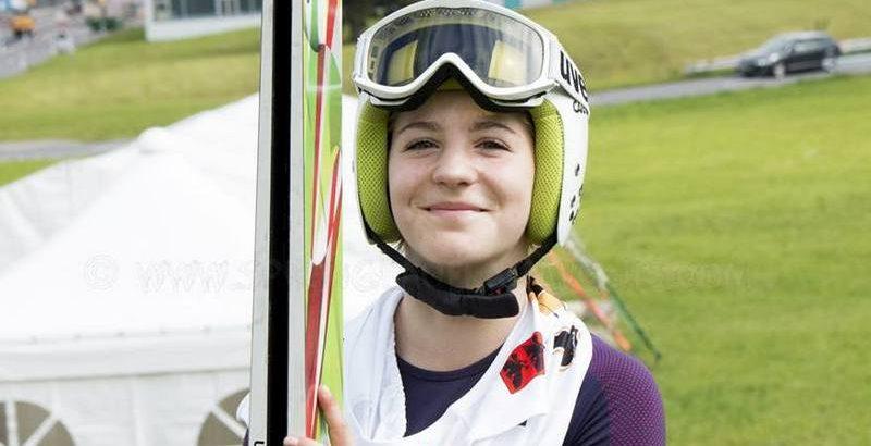 alice puntel atleta di salto con gli sci della nazionale italiana