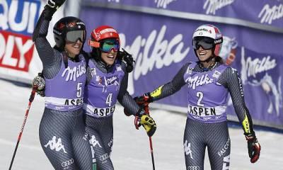 CdM sci alpino: lo storico podio del gigante di Aspen, tris azzurro nell'ultima gara stagionale