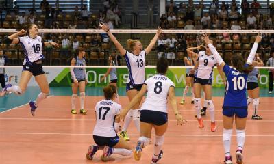 La squadra italiana femminile agli EYOF 2017 esulta per la conquista della medaglia d'oro
