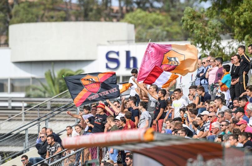 Grande atmosfera ieri allo Stadio Tre Fontane per l'esordio della Roma in Youth League