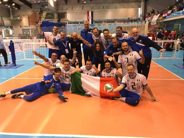 La nazionale italiana maschile agli Europei 2017 di Sitting Volley