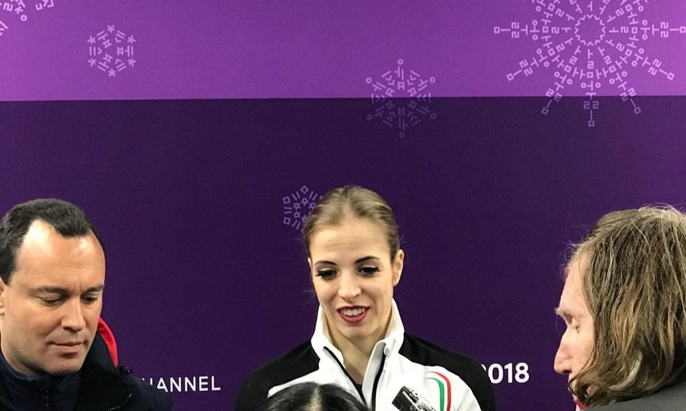 Carolina Kostner dopo il programma libero di Team Event